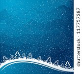just realistic beautiful snow... | Shutterstock .eps vector #117757387