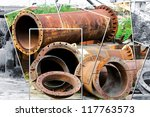 Old Pipes On The Junk Yard...