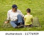 grandpa and grandson enjoying... | Shutterstock . vector #11776909