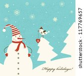 christmas decoration with...   Shutterstock .eps vector #117769657