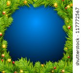 christmas tree with baubles | Shutterstock . vector #117772567