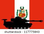 the flag of peru with the... | Shutterstock .eps vector #117775843
