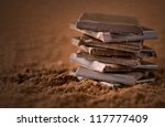 Chocolate Bars Close up - stock photo