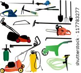 garden tools set   vector | Shutterstock .eps vector #117783277
