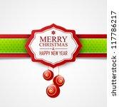 christmas card | Shutterstock .eps vector #117786217