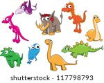 collection of dinosaurs | Shutterstock .eps vector #117798793