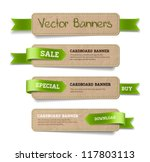 a set of vector promo cardboard ... | Shutterstock .eps vector #117803113