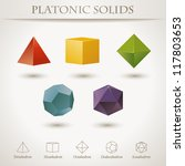 colorful set of geometric... | Shutterstock . vector #117803653
