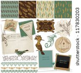 scrapbook design elements  ... | Shutterstock .eps vector #117830203