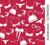 seamless fashion accessories...   Shutterstock . vector #117844243