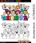 coloring book or page cartoon... | Shutterstock .eps vector #117848323