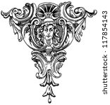decorative element of the... | Shutterstock . vector #117854143