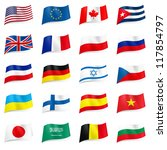 set world flags icons....   Shutterstock .eps vector #117854797