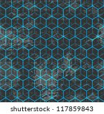blue cube seamless | Shutterstock .eps vector #117859843