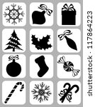 collection of isolated... | Shutterstock .eps vector #117864223