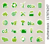 stickers about ecology concept. | Shutterstock .eps vector #117876247