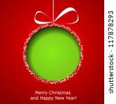 Abstract Green Christmas Ball...