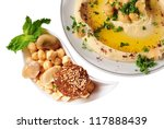 Hummus - stock photo