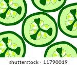 sliced slice cucumber pattern...   Shutterstock . vector #11790019
