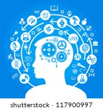 the concept of the learning... | Shutterstock .eps vector #117900997