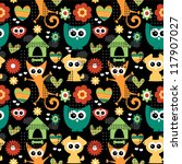 cute seamless pattern with... | Shutterstock .eps vector #117907027