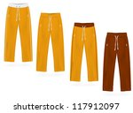 sport sweatpants set. | Shutterstock .eps vector #117912097