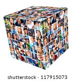 group of business people. cube... | Shutterstock . vector #117915073
