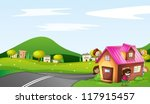 illustration of kids and a... | Shutterstock .eps vector #117915457