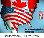 north america nuclear plants map | Shutterstock .eps vector #117938947