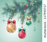 christmas tree decoration | Shutterstock .eps vector #117955717