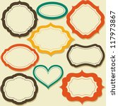 a set of vintage paper labels | Shutterstock .eps vector #117973867