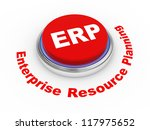 3d illustration of ERP Enterprise Resource Planning - stock photo