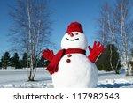 Cheerful Snowman All Dressed U...