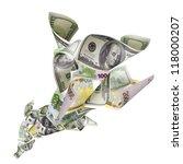tornado of dollars and euro... | Shutterstock . vector #118000207