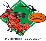 aiming,artwork,cartoon,clay disk,crawdads,crawfish,crayfish,crustaceans,disk,graphics,illustration,lobster,retro,rifle,rock lobster