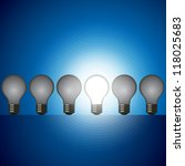 idea bulb set. leader concept | Shutterstock .eps vector #118025683