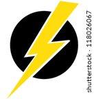 lightning bolt | Shutterstock .eps vector #118026067