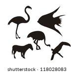 silhouette animals over white... | Shutterstock .eps vector #118028083