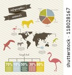infographics with bar  vintage... | Shutterstock .eps vector #118028167
