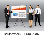 illustration of business people ... | Shutterstock .eps vector #118037587
