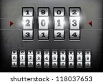 combination lock showing the...