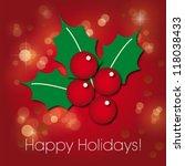 poinsettia christmas happy... | Shutterstock .eps vector #118038433