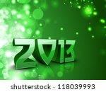 stylized 2013 happy new year... | Shutterstock .eps vector #118039993