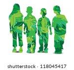 vector illustration of children ... | Shutterstock .eps vector #118045417