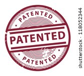 Grunge rubber stamp with the text Patented written inside the stamp, vector illustration - stock vector