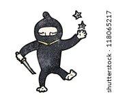 cartoon ninja | Shutterstock .eps vector #118065217