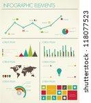 retro infographics design.... | Shutterstock .eps vector #118077523