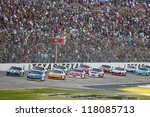 FORT WORTH, TX - NOV 04:  The NASCAR Sprint Cup Series take to the AAA Texas 500 at Texas Motor Speedway in Fort Worth, TX on Nov 4, 2012. - stock photo