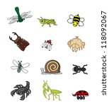 insect animal set | Shutterstock .eps vector #118092067
