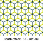 abstract cube pattern in... | Shutterstock .eps vector #118105003